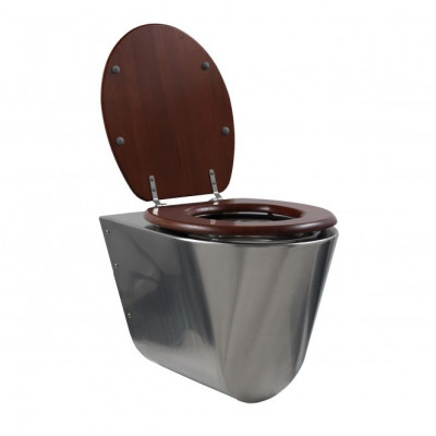 RVS toilet wandmodel conisch